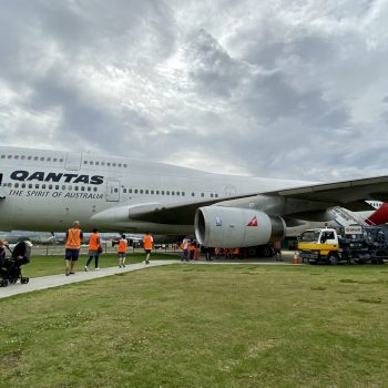 Hars Boeing 747-400 visitor experience. Mark Mennie photo
